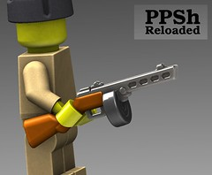 PPSh Reloaded Render (BrickArms) Tags: lego ppsh