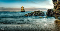 Brandung (David Avram) Tags: portugal stone seaside wave lagos brandung