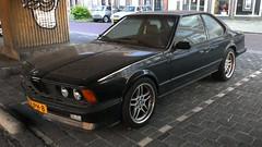 BMW M635 CSi (sjoerd.wijsman) Tags: auto black holland cars netherlands car nederland thenetherlands delft voiture bmw vehicle holanda autos zwart paysbas coupe olanda coup fahrzeug niederlande 6series zuidholland carspotting bcar carspot bmw6series m635 spoorzone bmwm635 85lph8 sidecode7
