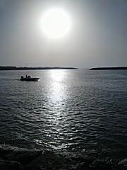 Beach (Toutounji) Tags: sun beach beautiful boat blackberry abu dhabi