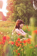 Soft (Delilah Jane Wilson) Tags: flowers girls summer nature beautiful portraits surrealism surreal surrealphotography portraiturephotography beautifulportraits