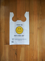 Smiley  Thank You (j u s t i n . z) Tags: nyc thankyou plasticbag smiley haveaniceday