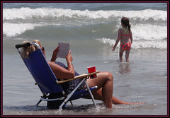 A Day at The Beach (Photographic Poetry) Tags: ocean vacation woman sun beach girl fun newjersey sand surf northwildwood lifeisabeach