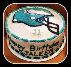 Philadelphia Eagles Football cake, Triad Area, NC, www.birthdaycakes4free.com