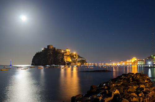 Luna piena sul castello aragonese - Ischia 2014