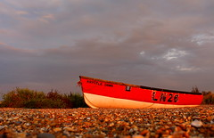 Krystle Dawn...at dusk (music_man800) Tags: family sunset red summer sky sun holiday color colour abandoned beach set clouds canon photography grey dawn evening boat twilight fishing colorful warm fishermen bright dusk low norfolk shingle creative gimp august level rubbish lonely editing colourful krystle edit cley cleynextthesea 700d ln26