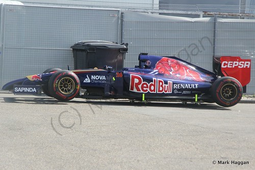 Daniil Kyvat's Toro Rosso car after qualifying for the 2014 German Grand Prix