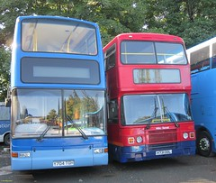 Southern Vectis Plaxton President bodied Volvo B7TL Y704TGH & Wilts & Dorset Leyland bodied Leyland Olympian H731DDL at Carisbrooke 16 August 2014 (IslandYorkie) Tags: buses busesinthesouthofengland busesontheisleofwight doubledecker volvobuses volvob7tl plaxtonbody plaxtonpresident y704tgh 1940 leylandbuses leylandolympian leylandbody 4731 southernvectis goaheadgroup gosouthcoast wiltsdorset eventsfleet carisbrooke isleofwight h731ddl busesihavedriven