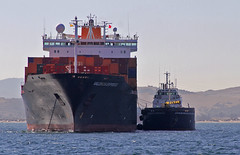 Stationary Movement (tony.evans) Tags: sea rock ferry plane marine ship dolphin vessel container bunker dolphins catamaran airbus a380 gibraltar tanker levante straitofgibraltar bayofgibraltar straitride yachtbunkering britishairwaysstraitride