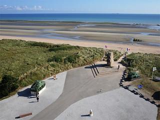 Le monument Leclerc sur la plage d'Utah Beach à Saint Martin de Varreville (Manche-FR)