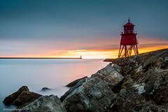 Herd Groyne Sunrise (stevecoady101) Tags: longexposure lighthouse seascape sunrise rocks tyne nd northeast southshields ndfilter sigma1835 10stop leefilters herdgroyne bigstopper