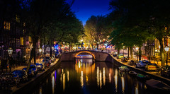 AMSTERDAM_CANAL BY NIGHT (Stuart Dayus) Tags: night lights amsterdamcanal hdrbridgereflection