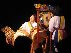 Female Korean Drummer (shaire productions) Tags: portrait musician music woman heritage beauty lady female asian drums person photography photo costume model asia image percussion candid traditional performance picture culture musical korean photograph instrument drummer moment cultural imagery
