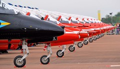 Black sheep of the family (bazzast170) Tags: red plane aircraft airshow redarrows riat riat2014