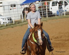 Welch Jr Rodeo, August 2014 (Garagewerks) Tags: horse girl sport female race all child sony barrel sigma august jr rope rodeo cans cowgirl welch roping 2014 50500mm barrelracing views50 views100 f4563 slta77v