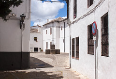 Alleyway in Old Ronda, Spain (ChrisGoldNY) Tags: travel white architecture canon poster spain europa europe european forsale crosses andalucia espana viajes ronda posters albumcover bookcover bookcovers albumcovers alleys licensing alleyways chrisgoldny chrisgoldberg chrisgold chrisgoldphoto chrisgoldphotos