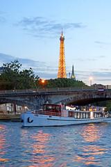 France-000516 - Eiffel Tower Lights Up