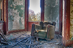 Sit down & relax (Dr_Fu_Manchu) Tags: old urban dusty abandoned home rural chair decay kentucky urbandecay plaster dirty louisville lonely mansion recliner derelict abandonment cracked urbex rura ouerbacker johnjmiller johnjmillerphotography urbandonment