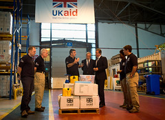 PM visits aid distribution centre (The Prime Minister's Office) Tags: iraq pm wiltshire primeminister downingstreet no10 davidcameron ukaid