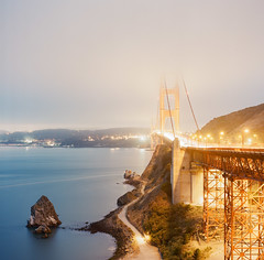 Golden Gate Bridge, San Francisco - California   Auguts 2014 (Sebastian (sibbiblue)) Tags: sanfrancisco usa film analog scan hasselblad goldengatebridge hybrid 500cm rpl noritsu bsquare 8planar richardphotolab zeiss2 zeiss28planar