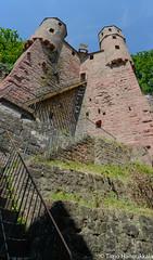 Panorama of Burg Schadeck (timohannukkala) Tags: tower castle germany de nikon ruins sigma burg hesse neckarsteinach schadeck d7100