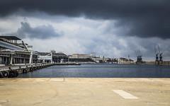 Cloudy (Laurent VALENCIA) Tags: shadow france port canon marseille lumire paca provence bateau orage sud tourisme marseilles digue croisire cnm proue sudest portautonome diguedularge 1dc