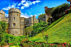 The Windsor Castle (JustBeingMeee) Tags: old blue windows sky castle grass stone sony palace architectural windsor alpha