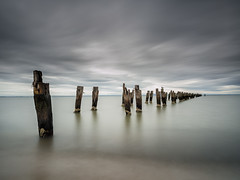 All that remains (RWYoung Images) Tags: longexposure sea cloud storm water rain landscape bay olympus em5 rwyoung