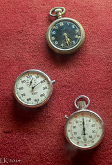 Elgin Pocket Watch, Sportex & Berna Railway Stopwatches. Israel Railway Museum, Haifa (kitchener.lord) Tags: israel watches rail impressions elgin haifa pocket berna 2014 sportex fujinonxf1855