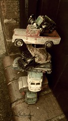 Time to get out the toy box (sharrah.hollinshead) Tags: old cars childhood vintage rust memories stack pile worn 1960s 1970s toycars dinkytoys dinkycars