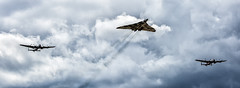 Avro Heritage (wardyian) Tags: aircraft wwii merlin lancaster vulcan bomber vera iconic thumper avro avrolancaster battleofbritainmemorialflight bbmf