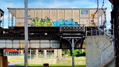 LYES & GS (BLACK VOMIT) Tags: car train graffiti ol south n dirty mc dos sicks network g6 coal gs freight kt esc wh lyes gsouth dirtyolsouth coalie gsicks