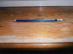 Prezent (gift). (Grzech) Tags: pen police policja ołówek