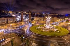 Ville de lumire (Seb Coucou) Tags: barcelona plaa espanya