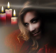 CG3A1s137 (TJ Boarman) Tags: red portrait woman lady candle smoke canondslr strobist canon580 canon7d sigmaf8514