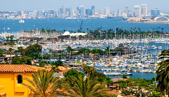 A View from Harbor View Dr. San Diego CA. (The Sergeant AGS (A city guy)) Tags: sandiego cityscapes colors california palmtrees walking waterways harbor marina yacht sailboat exploration urban urbanexploration unitedstates blue bay boats walkways outdoors