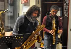 N2122828 (pierino sacchi) Tags: kammerspiel brunocerutti feliceclemente igorpoletti improvvisata jazz letture libreriacardano musica sassofono sax stranoduo