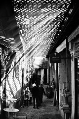Souk  atmosphere- Fes (drclerk) Tags: chefchaouen leica m7 28mm 35mm summicron summilux streetphotography analog morocco maroc fes tetouan tanger muslims culture africa blue bw