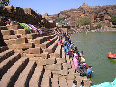 2006 India,  Badami 0141.jpg (Mandir Prem) Tags: indians ancient wildlife asia backpakers india exotic travel bw outdoor temple nature places badami