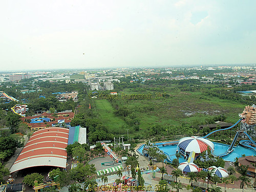 Siam Park City Theme Park as seen from the Observation Tower, Suan Siam in June 2010,  203 Suan Sayam road, Khan Na Yao District, Bangkok, Thailand.