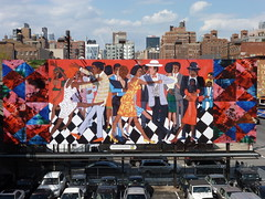 201404262 New York Chelsea High Line Park advertising Art (taigatrommelchen) Tags: city nyc newyorkcity urban usa ny newyork art chelsea manhattan icon highline 20140417