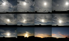 solar radiation management (rospix) Tags: uk trees sunset sky cloud sun tree nature june collage wales clouds countryside 2014 geoengineering rospix