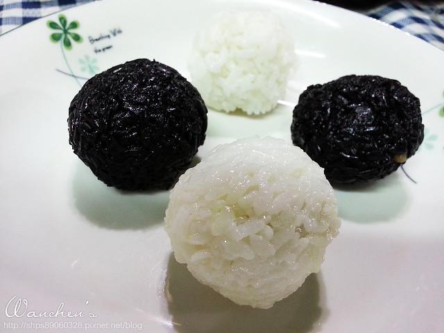 20140619黑米 雙色飯糰_211258