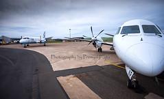 Loganair Saab 2000 (S20) G-LGNR (Premysl Fojtu) Tags: travelling promotion plane canon eos scotland airport orkney 2000 aircraft aviation scottish wideangle commercial airline fullframe dslr saab kirkwall s20 loganair 5dmkii scotlandsairline glgnr