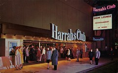 Harrah's, Reno, Nevada (SwellMap) Tags: gambling architecture vintage advertising design pc 60s fifties postcard suburbia style kitsch casino retro nostalgia chrome americana 50s roadside googie populuxe gamble sixties babyboomer consumer coldwar midcentury spaceage ratpack atomicage
