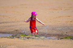 Splish, Splash (karllaundon) Tags: family sea summer sun cute beach fun happy seaside day child laugh northeast rockpool redcar
