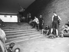I am alive I'm just playing dead. (fedeskier) Tags: door summer white black june stairs torino fun grande big day estate skateboarding go 11 ollie e skate skateboard porte giugno turin bianco nero divertimento 2014 gradini palatini