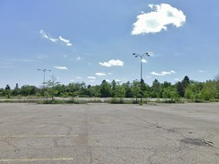 Old Rolling Acres Parking Lot (Nicholas Eckhart) Tags: ohio usa retail america mall us oh stores akron 2014 deadmall rollingacres romigroad