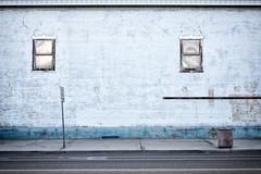 No Truck Parking (2812 photography) Tags: blue color photography nevada brickwall utata ruralamerica notruckparking thursdaywalk 2812photography ©peterosos fujifilmxt1 utata:project=tw427