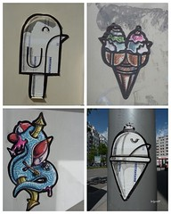 Graff in Grenoble (brigraff) Tags: streetart pasteup art ice collage grenoble sticker arte panasonic urbanart glace airmail papiercoll laposte artedelacalle tz7 groel panasonictz7 brigraff groekandgroel groek